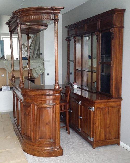 free comptoir de bar et arrire de bar en bois massif install chez un particulier barfleur with. Black Bedroom Furniture Sets. Home Design Ideas